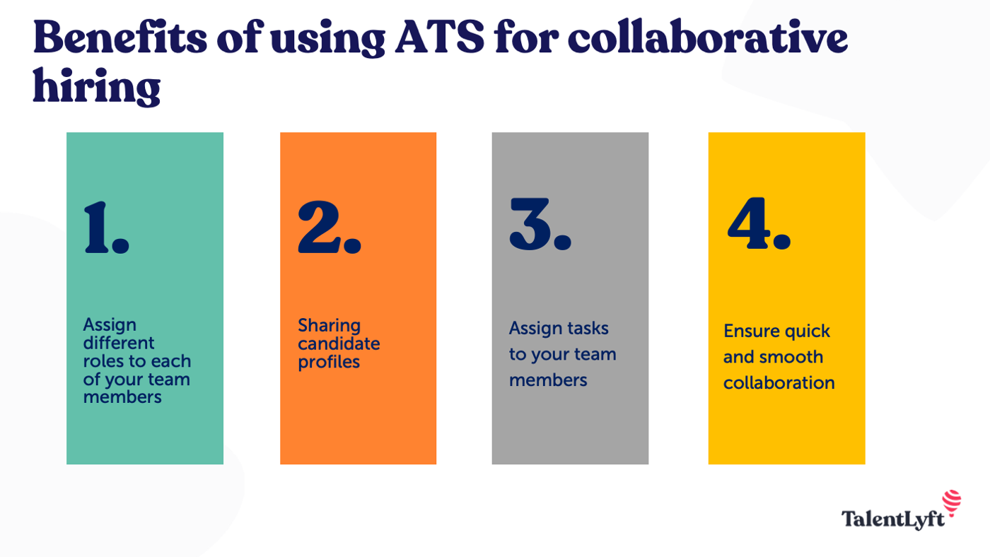Benefits of using ATS for collaborative hiring