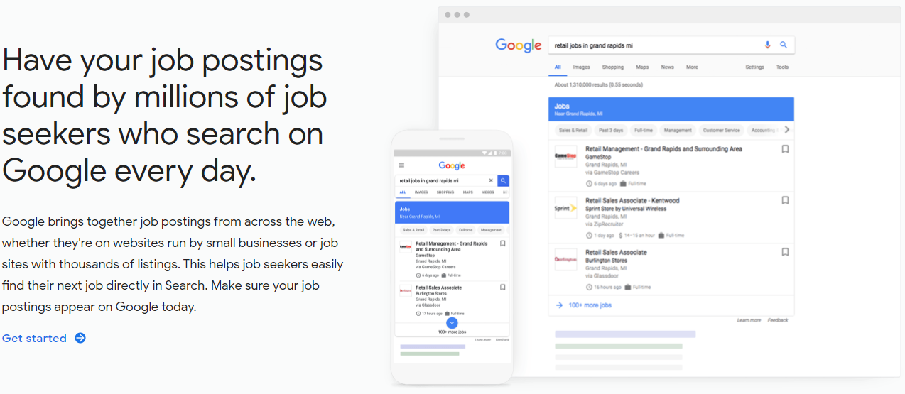 google job postings