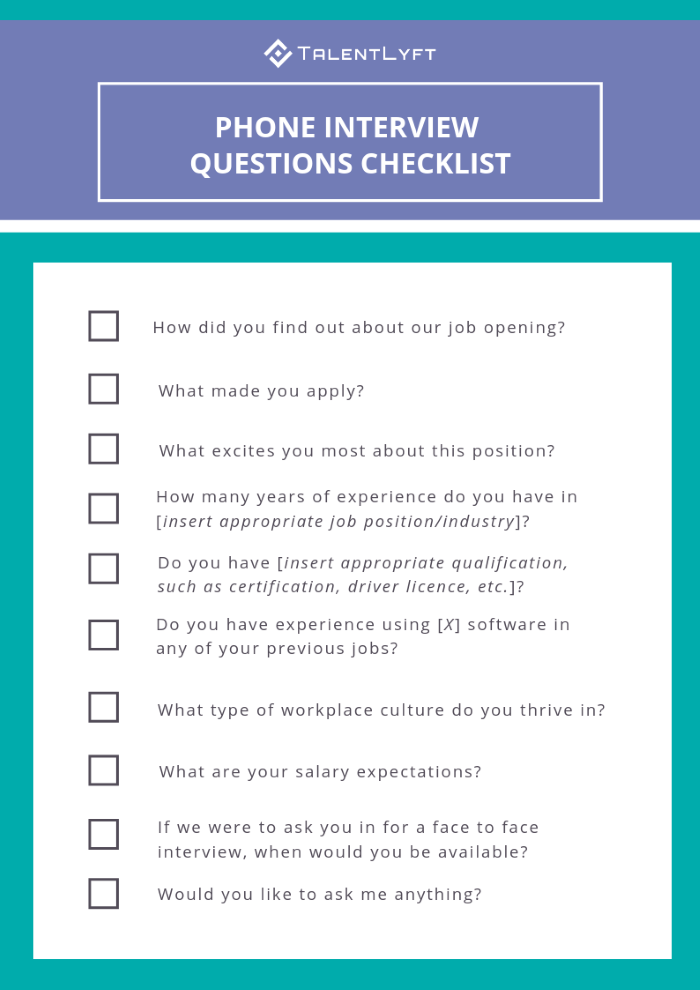 top 10 phone interview questions to ask job candidates