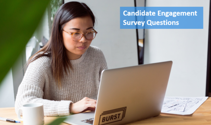 Candidate engagement survey questions sample