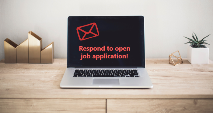 email respond to open job applications when no vacancies