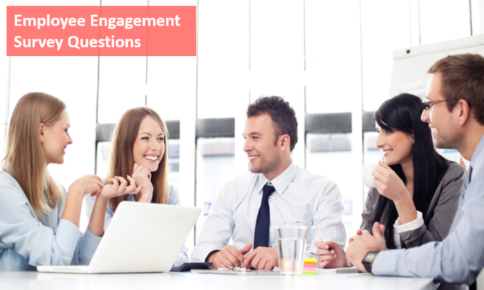 Employee engagement survey questions sample