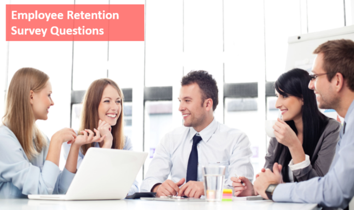 Employee retention survey questions sample