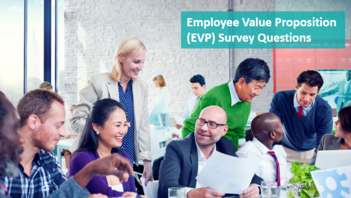 Employee Value Proposition (EVP) survey questions sample