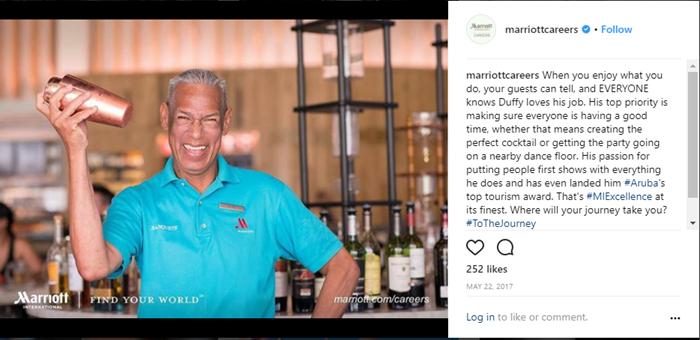 Hospitality-recruitment-social-media-example
