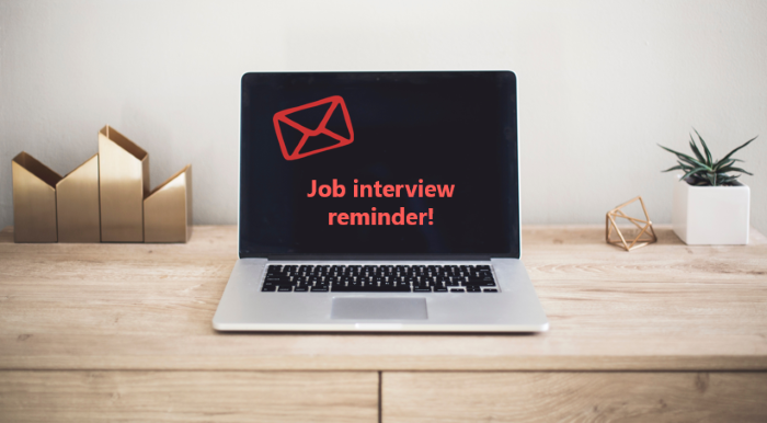 job interview reminder email template