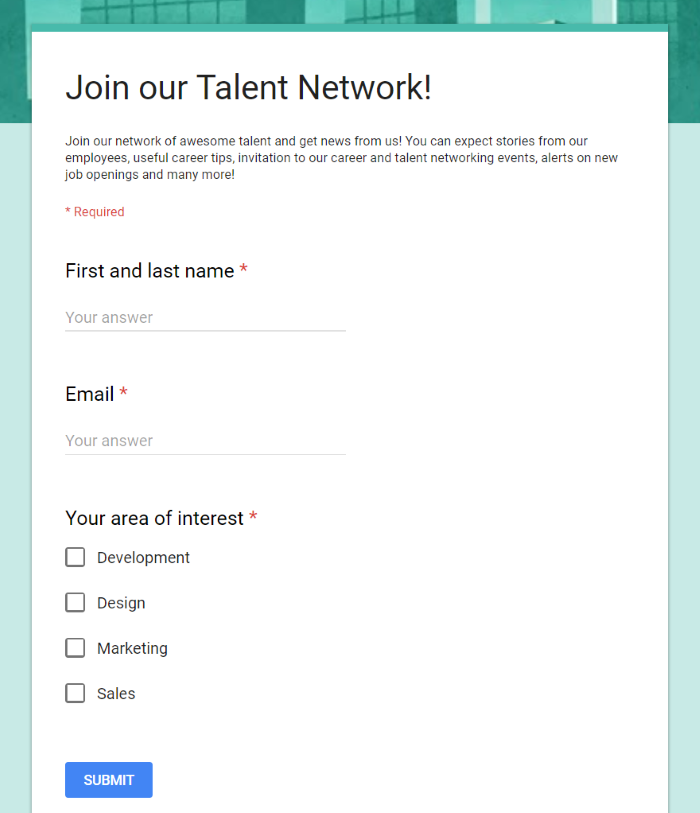 lead generation through talent network