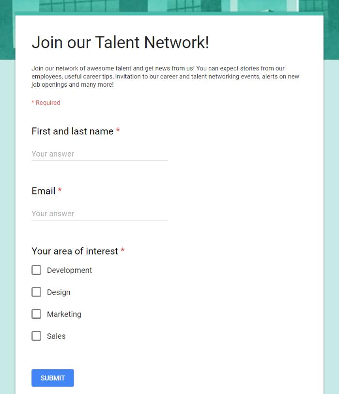 lead generation through talent network