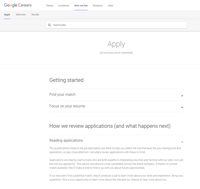 Recruitment-content-example-application-Google
