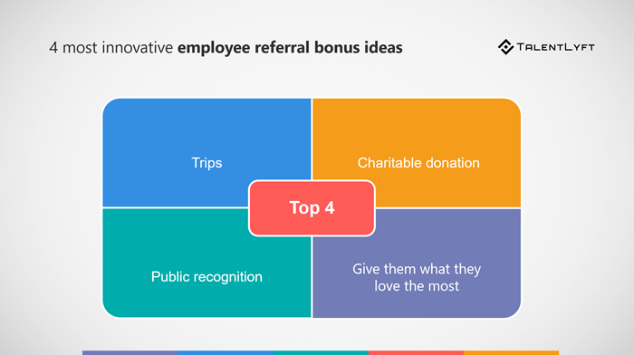 4 Most Innovative Employee Referral Bonus Ideas