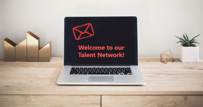 welcome to our talent network email template