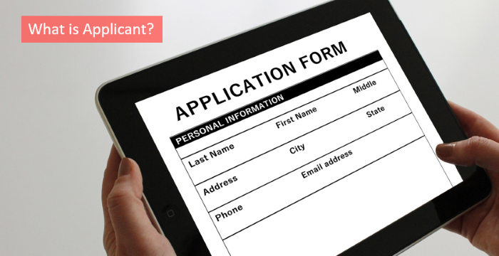 what is applicant