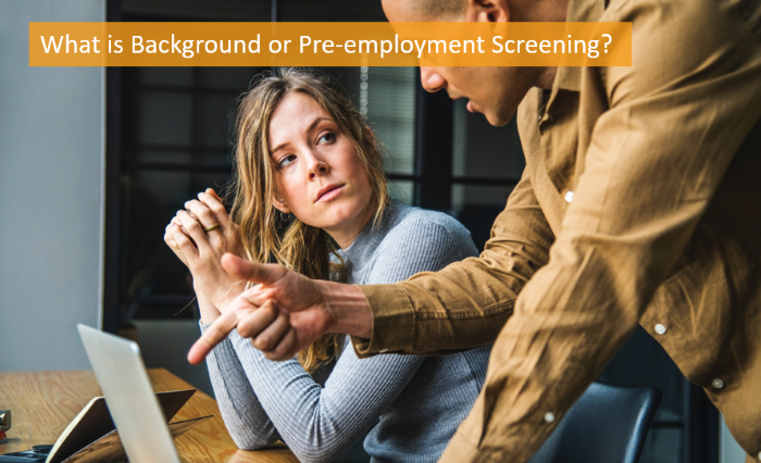 what is background or pre-employment screening