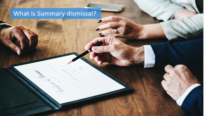what-is-summary-dismissal